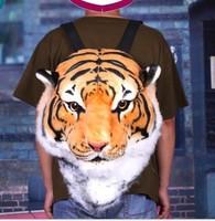 Creative product tiger backpack lifelike animal high retention rates tiger backpack bag HUGE Luxury Tiger Head Lion bag 2 color