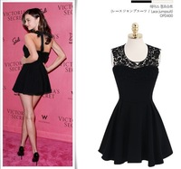 2014 New Arrival European Style Hot Selling Backless Sexy Club Wear Mini Dress 2 Colors Y/1087