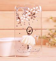 2pcs 2013 NEW Pretty 3D Dancing Ballet Girl Black White Pink Dress Case for Lenovo S720 Moible Phone Cover