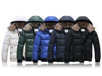 Men's Fur collar Cotton Padded Winter Coat Fashion Parka Overcoat jacket 5 COLOR