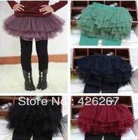 2014 Spring Retail 1pc Girls' Leggings Children's skirt Girls Skirt-pants Cake skirt Girl's pants