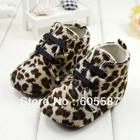3 pairs / lot The Newest leopard Baby Girl First Walkers Spring & Autumn Baby Shoes