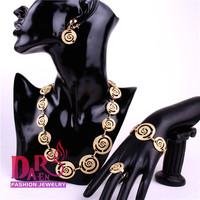Daren Design Dubai Jewelry 18K Gold Plated  Necklace Set, Wedding/ Bridal Jewelry set african set DRSC708