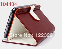 New Pu Leather Flip auto-sleep magnet Original Smart Phone cover case for Fly IQ4404 free shipping