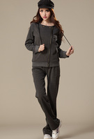 2013 plus size clothing mm autumn and winter sweatshirt sportswear set