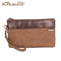 Summer casual male horizontal women's canvas wallet day clutch key wallet bag