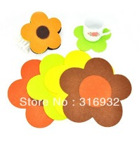 C6 Flower felt sheets,Fabric sheets coaster,Cup mat,Table mat