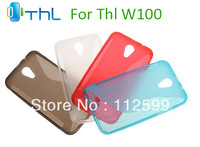 Colorful Soft silicon case cover for THL W100 + Free protector flim + Free shipping