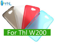 Original S Line Gel Soft Case For THL W200 W200S Phone Cover Shell + Free screen film