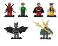 Super Heroes Toy LOKI/BATMAN/DEADPOOL/GREEN LANTERN/WOLVERINE/ROBIN Star wars Mini Action figures toys Decool/Sluban/Banbao