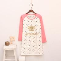 11.11 preppy style small fresh crown letter print raglan sleeve t-shirt plus velvet