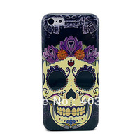 One Big Skull Head Protective Plastic Back Cover Case For iPhone 5C