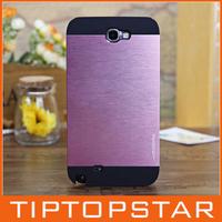 High quality made in korea Motomo ino safari leopard black border metal aluminum phone case for samsung note 2