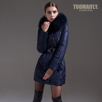 Tuomaifly2013 winter fashion wool collar long-sleeve down coat women