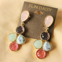 New Famous Brand  for Droplets earrings faceted synthetic stones
