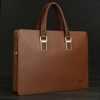 Hight quality Free shipping new 2013 men genuine leather handbags cowhide casual men's briefcase business designer handbag