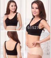 Free shipping Seamless bra underwear plus size cotton one piece comfortable air d cup bra vest design sports yoga underwear bra