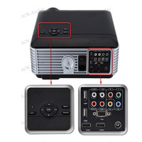 Full HD 140W LED lamp 4200LU home cinema Proyector Native1280*800 Video KTV Portable LED Projectors with 2*HDMI 2*USB TV
