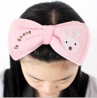 Free shipping 5PCS/lot wholesale Bow headband headcloth hairdo wash a face towel necessary makeup
