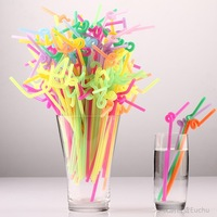 Box disposable plastic art straw diy style tea straw 71036