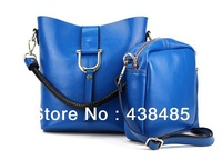 Fashion Hasp Design Women 100% Original Soft Cow Skin Genuine Leather Tote Shoulder Bag Handbag Shopper Shopping Bag+ Free Ship