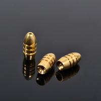 Trulinoya Lure Threaded Bullet Copper 7g  3pcs/ bag Soft Crank Hook Free shipping