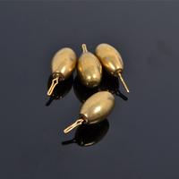 Copper 3.5g 5pcs per bag soft bait lure soft lure Pour fishing copper pendant Fishing Accessories