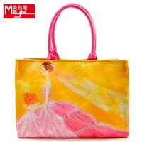 Bag 13 flower lady personality canvas print one shoulder handbag women's handbag m698