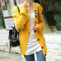 2013 spring autumn women's plus size sweater outerwear female women loose medium-long cardigan