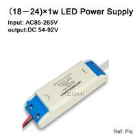 Free shipping (18-24) X1W led power driver lamp driver AC85-265v external LED power supply input for E27 GU10 LED lamp spotlight