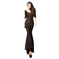 Free Shipping 2013 New Sexy Silver Racerback Fish Tail Full Long Dress One-piece Evening Dresses M,L RG1312614