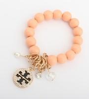 Bracelet gold cutout circle double t elastic bracelet 5