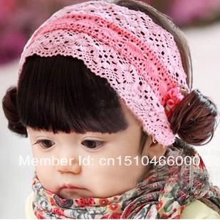 Baby princess hair bands newborn baby wig hair band hair accessory hair accessory 60(China (Mainland))