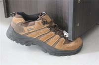 Plus size male cowhide slip-resistant 4546 47 hiking shoes walking shoes steel head anti-collision toe cap safety shoes