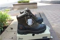 Hiking  snow   male snow walking slip-resistant shoes cowhide wool thermal waterproof fishing shoes