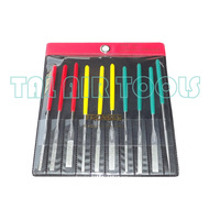 Free Shiping FRONBES PTF-100 10x Needle Files Set Jewelers Diamond Wood Carving Craft Tool Metal Glass Stone  Rasp