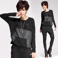 9157 fashion zipper long-sleeve hooded t-shirt