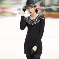 2014 spring fashion slim handmade patchwork basic 9323 one-piece dress