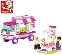 New Pink Dream Food Truck Educational Building Blocks Develop Intelligence Toy