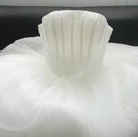 Bride pearl wedding dress tube top wedding dress handmade pearl yarn wedding dress slim strap free shipping