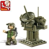HI-Q SLUBAN  Army Radar Station Educational Building Blocks Develop Intelligence Toy For Childen Classic gift