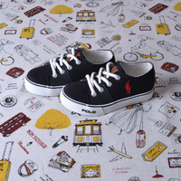 Polo children toddler shoes 2013 autumn canvas casual  skateboarding shoes cotton-made shoes
