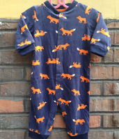 Shopping festival Baby clothes baby boy romper mircofleece romper  jumpsuit sleep& play clothes baby pajamas little fox
