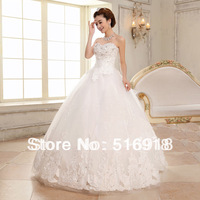 Free Shipping 2014 Distinctive Sweetheart White Ruffles Organza Bridal Ball Gown Wedding Dresss High Low Vestidos