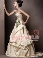 Customizable Outlet Belt Embroidery Lace Satin Small Fish Tail Irregular Pleated Skirt White Lace Up Wedding Dress