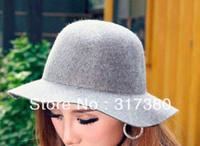 Wholesale Blank Womens Wool Floppy Cloche Lady Winter Dome Felt Trilby Hats Women Derby Caps Headwear Ladies Fall Bucket Hats