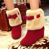 Hot-selling 2013 elevator casual sweet bow boots