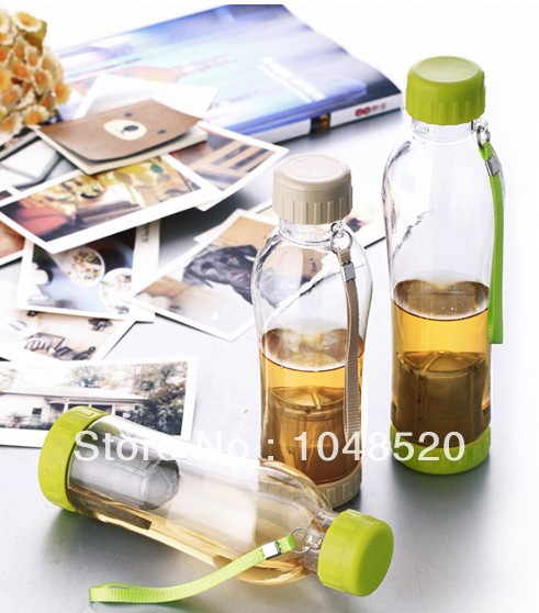 With rope plastic water bottle 780ml or 580ml(China (Mainland))