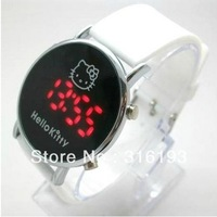 White Silicone Hello Kitty Watch Children Watch led digital fashion watch Free Shipping 20PCS/LOT