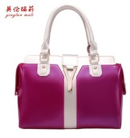 2013 new Ms splicing handbag.The European and American fashion female bag.The fashion leisure bag